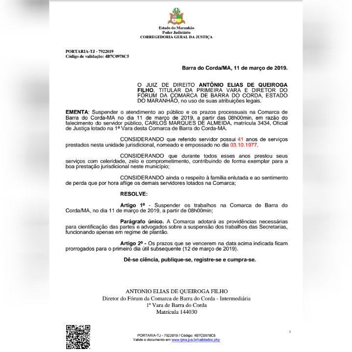 CollageMaker 20190311 102031246 - COMUNICADO: Não haverá atendimento ao público no Fórum de Justiça de Barra do Corda nesta segunda-feira - minuto barra