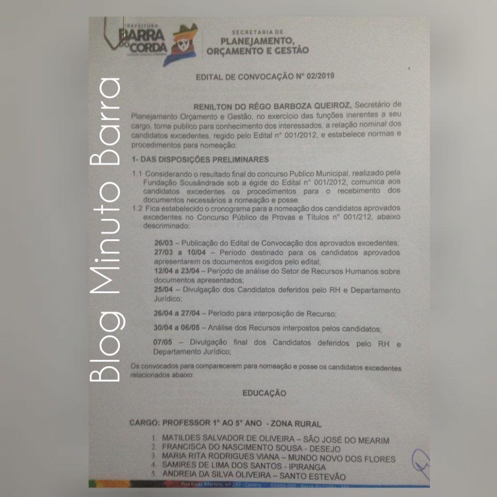 CollageMaker 20190327 081209404 1024x1024 - Prefeitura de Barra do Corda realiza última chamada de excedentes, faltando um dia para encerrar validade do concurso público - minuto barra
