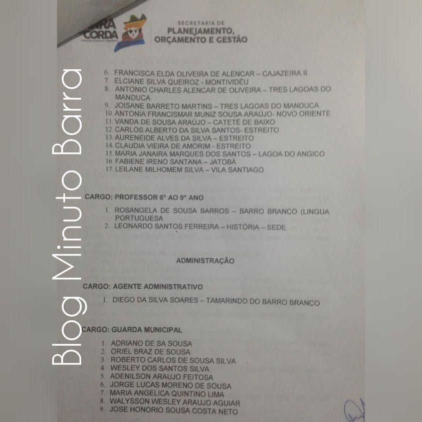 CollageMaker 20190327 081315519 - Prefeitura de Barra do Corda realiza última chamada de excedentes, faltando um dia para encerrar validade do concurso público - minuto barra