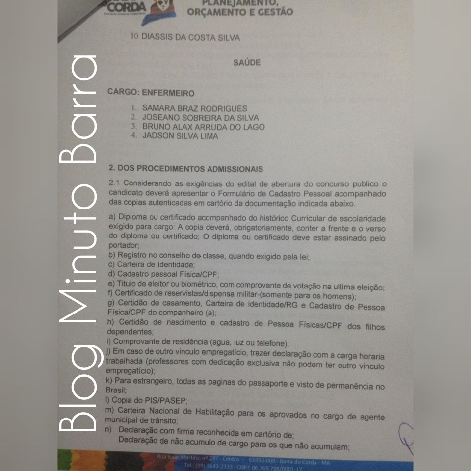 CollageMaker 20190327 081414794 - Prefeitura de Barra do Corda realiza última chamada de excedentes, faltando um dia para encerrar validade do concurso público - minuto barra