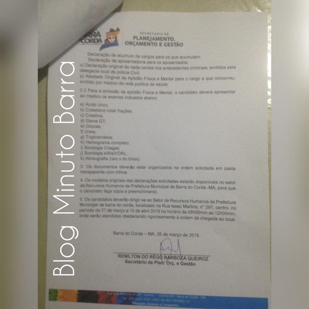 CollageMaker 20190327 081523004 1024x1024 - Prefeitura de Barra do Corda realiza última chamada de excedentes, faltando um dia para encerrar validade do concurso público - minuto barra