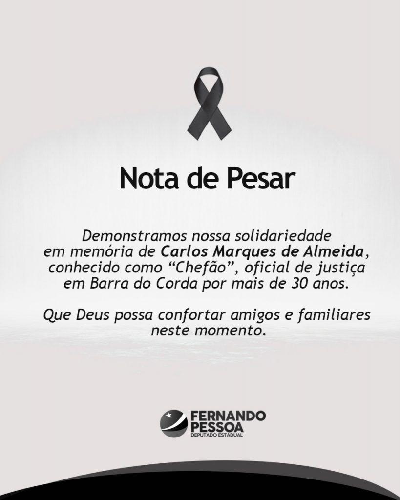 IMG 20190310 WA0049 819x1024 - Deputado Fernando Pessoa lamenta morte de Carlão em Barra do Corda - minuto barra