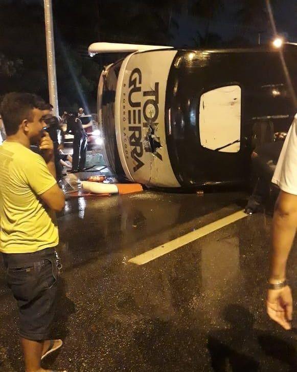 IMG 20190316 WA0001 - Após show no Maranhão, ônibus de Tony Guerra/Forró Sacode tomba em rodovia federal - minuto barra