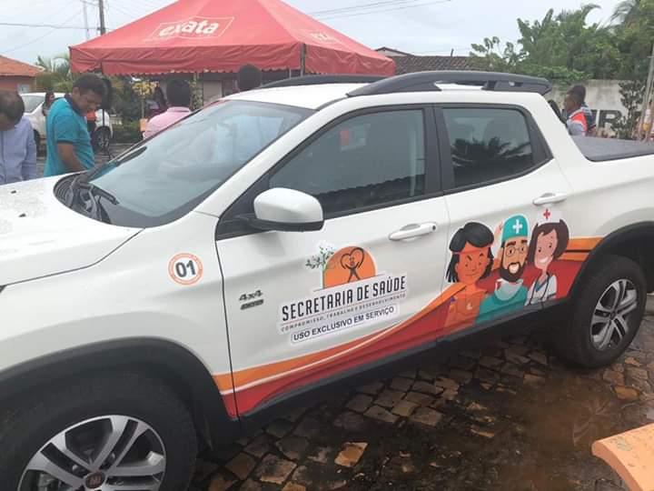 FB IMG 1554549822982 - Prefeito Moisés Ventura inaugura 3 UBS's e entrega 4 veículos zero km em Jenipapo dos Vieiras - minuto barra