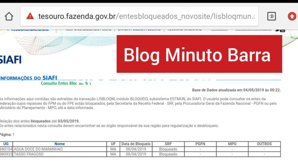 CollageMaker 20190506 172359698 1024x559 - Dois municípios do Maranhão estão desde abril com o FPM bloqueado pelo Tesouro Nacional - minuto barra