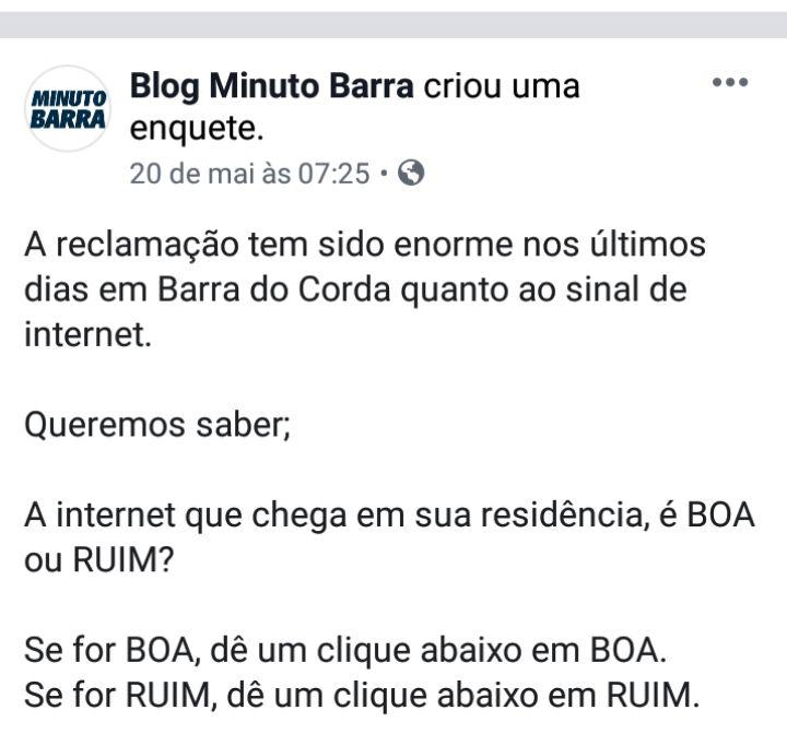 CollageMaker 20190521 204712107 - 90% consideram que serviço de internet em Barra do Corda é RUIM - minuto barra