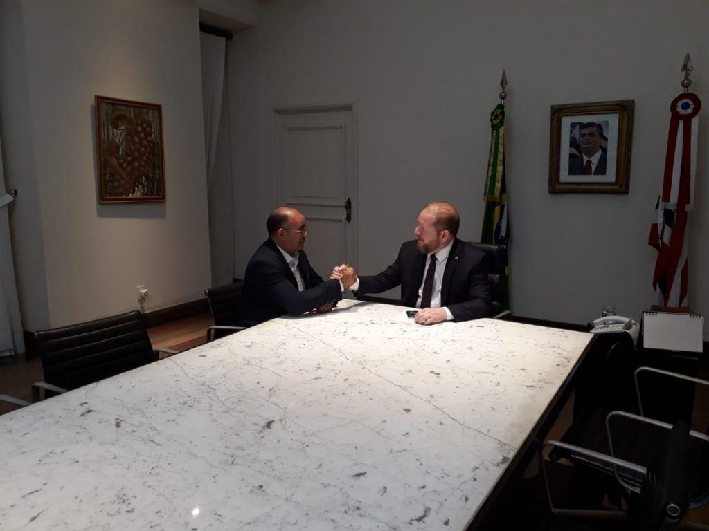 IMG 20190517 WA0006 1024x768 - Gil Lopes é recebido no Palácio dos Leões pelo governador interino Othelino Neto - minuto barra