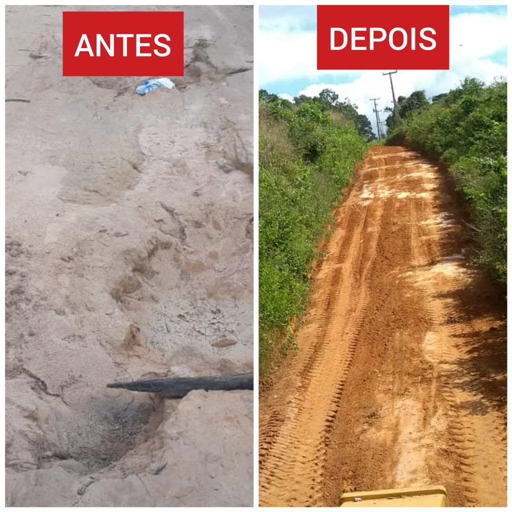 CollageMaker 20190605 152343328 1024x1024 - Prefeito Moisés Ventura realiza recuperação de estradas que interligam Aldeias em Jenipapo dos Vieiras - minuto barra