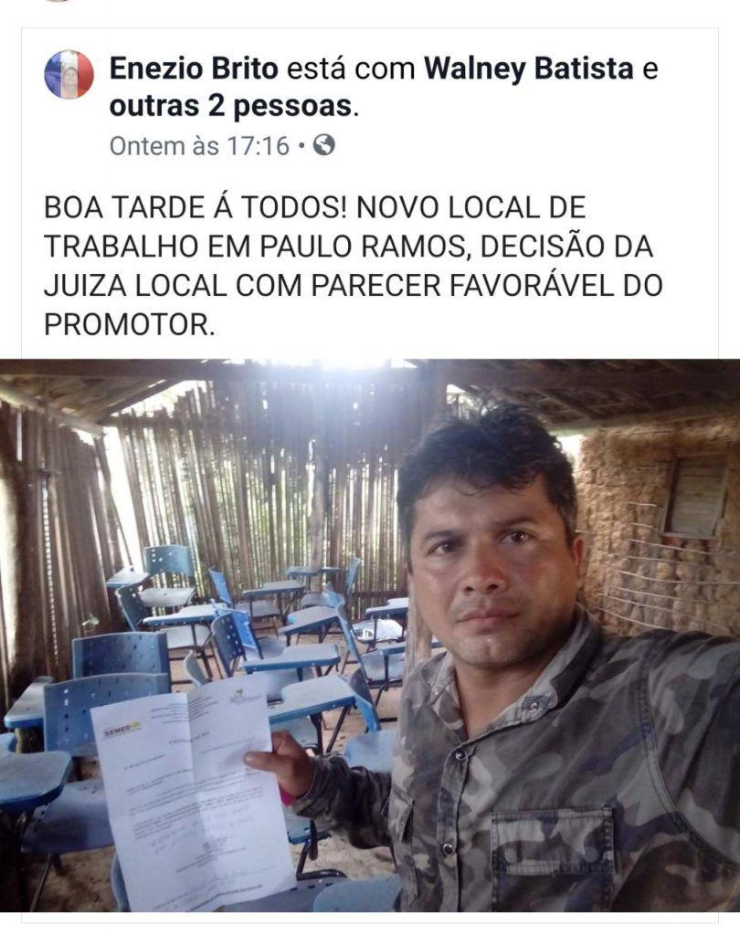 IMG 20190605 WA0148 810x1024 - Em Paulo Ramos, crianças estudam em escola de barro, coberta com palha e sem banheiro - minuto barra
