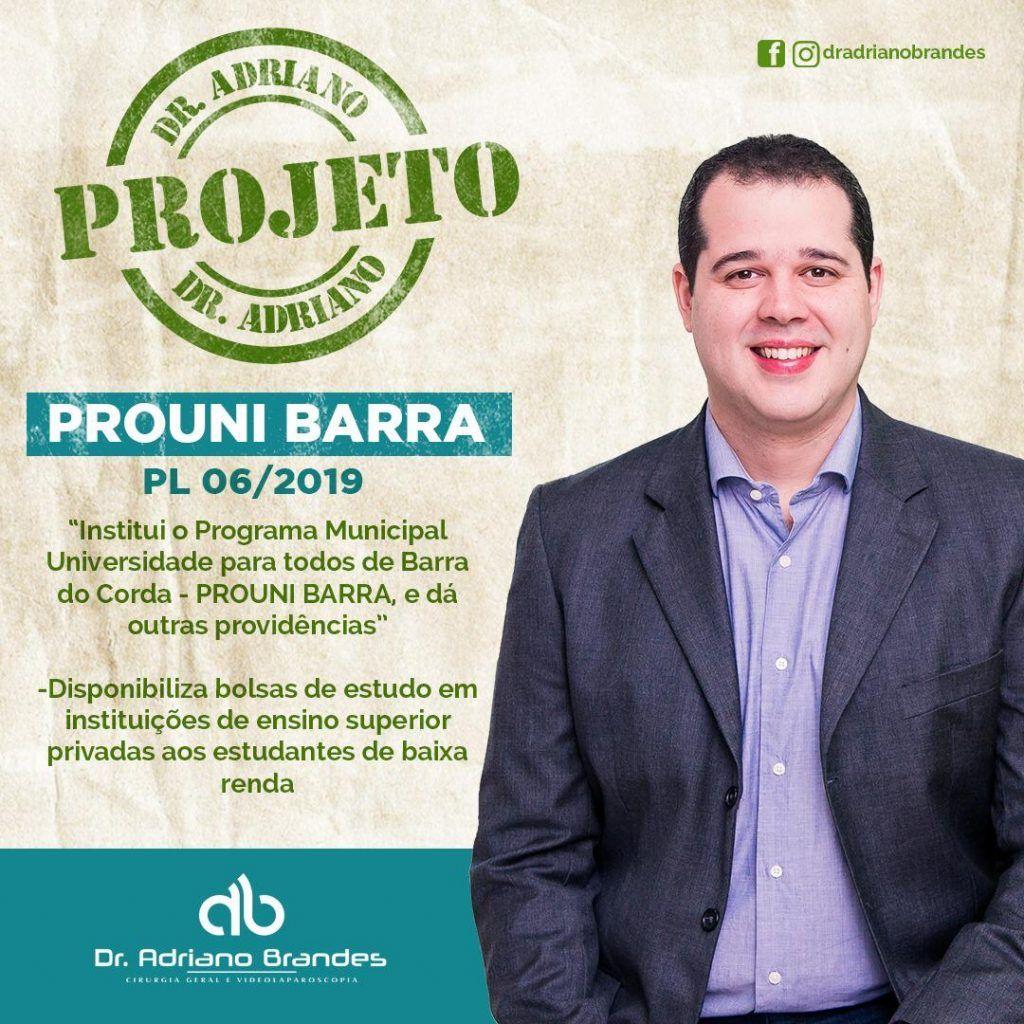 IMG 20190620 WA0127 1024x1024 - Pessoas de baixa renda em Barra do Corda poderão ter acesso ao ensino superior através de bolsa, é o que defende Dr Adriano Brandes em PL - minuto barra