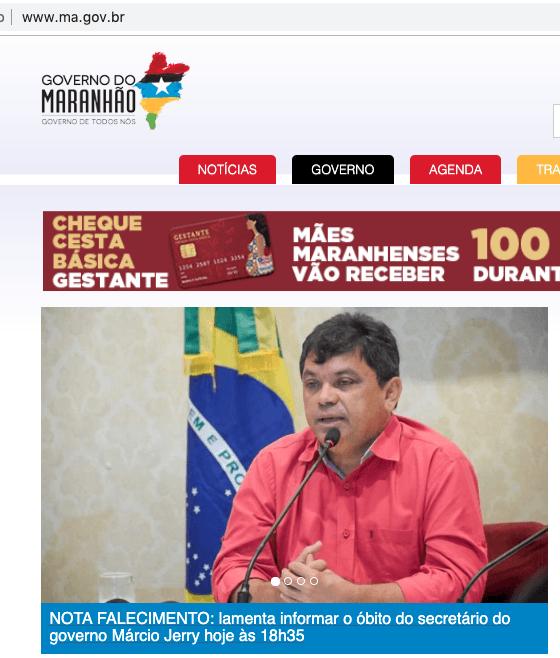 portal - Governo do Maranhão comunica morte de Márcio Jerry, mas deputado está vivo - minuto barra