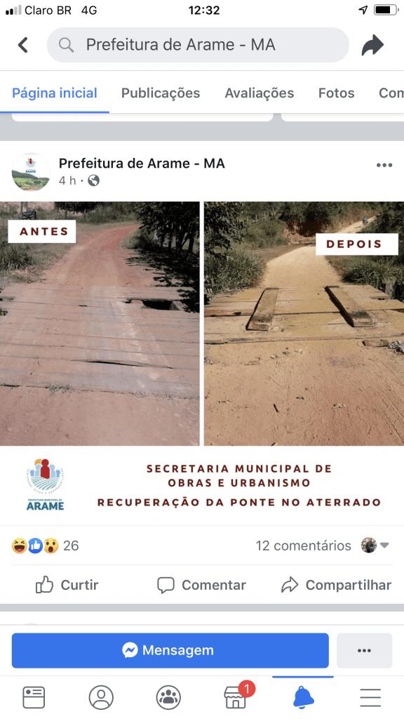 2AEE1708 0F26 4515 AEDC 7DC7775A471E 576x1024 - INACREDITÁVEL!! Veja a ponte de madeira que a prefeita de Arame mandou recuperar e teve coragem de festejar nas redes sociais - minuto barra