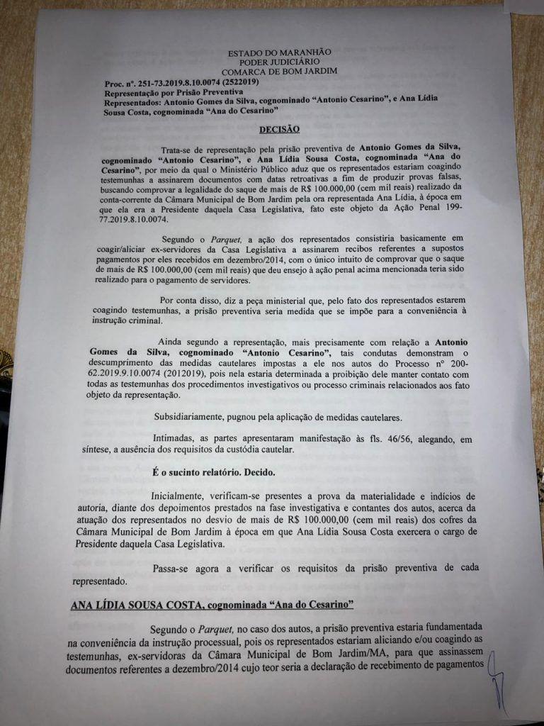 47E7F147 81B7 48F1 9A6E 9E6E178FCC8D 768x1024 - URGENTE!! Juiz manda prender vereador Cezarino de Bom Jardim a pedido do Promotor Fábio Santos - minuto barra