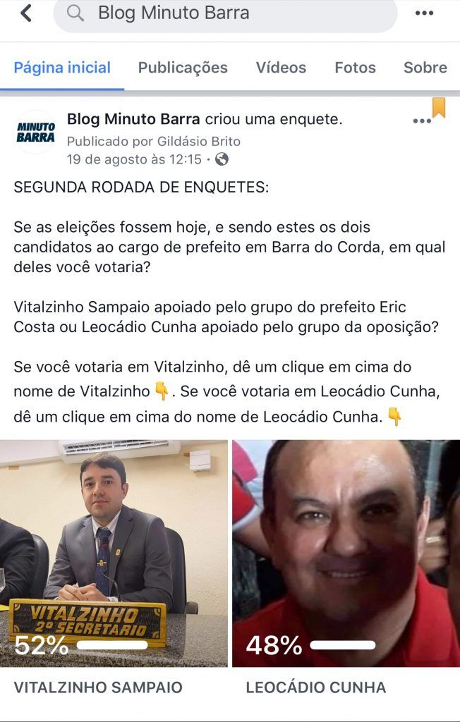 55B15D7F 1C6A 40C8 BC7A 020575C7CCA7 652x1024 - VEJA AQUI: Blog Minuto Barra divulga resultado da segunda enquete para prefeito de Barra do Corda - minuto barra