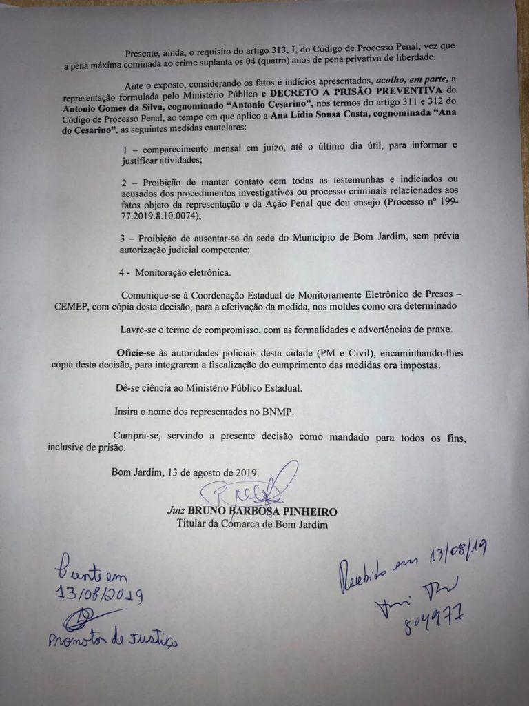 A2329739 E192 4230 909C 22DEEA8679ED 768x1024 - URGENTE!! Juiz manda prender vereador Cezarino de Bom Jardim a pedido do Promotor Fábio Santos - minuto barra