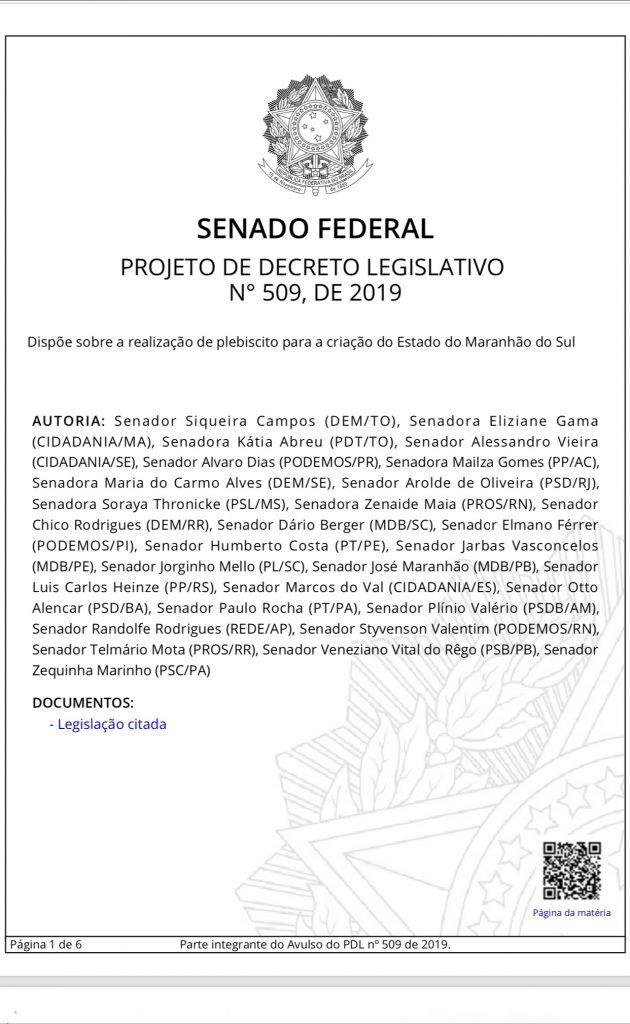 BCD3887F ADA0 44F2 9C3C AB12753C60F0 630x1024 - URGENTE!! 27 senadores assinam PL para criação do Estado Maranhão do Sul - minuto barra