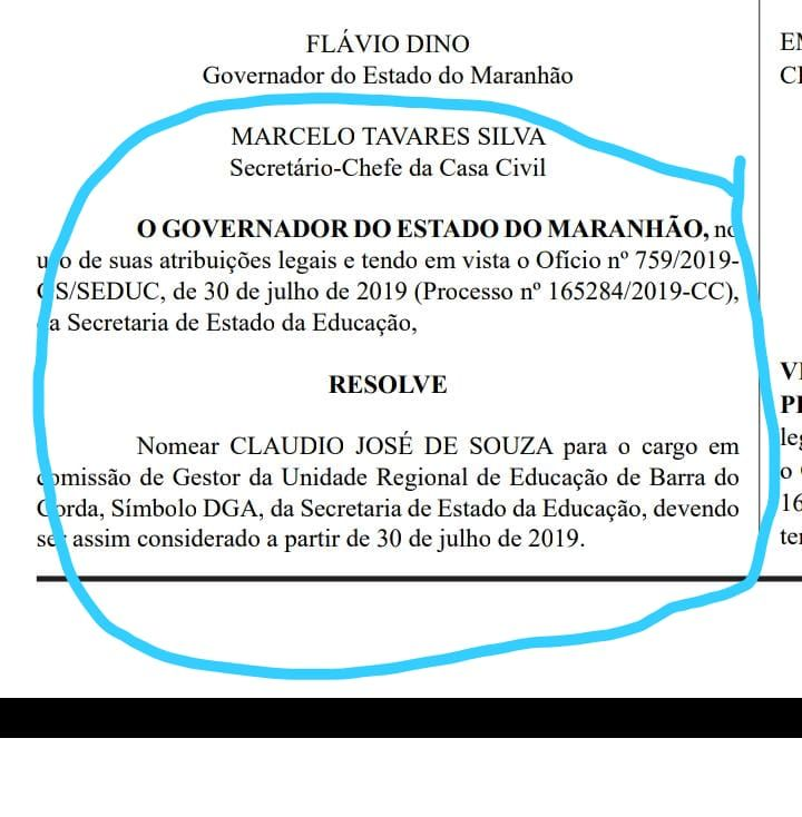 C94D385D 85F4 4AEB 8CB1 DD2D8D25DADB - Flávio Dino exonera professora Vanda do cargo de gestora da URE de Barra do Corda e nomeia professor Claudio - minuto barra