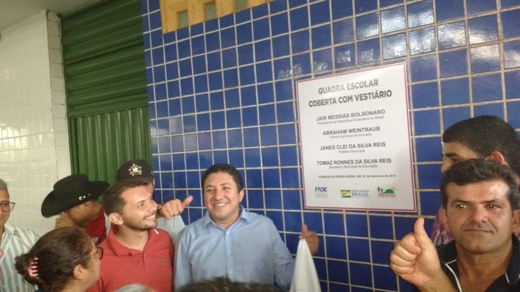 19 1024x576 - Prefeito Janes Clei inaugura quadra de esporte, entrega trator e ambulância em Formosa da Serra Negra - minuto barra