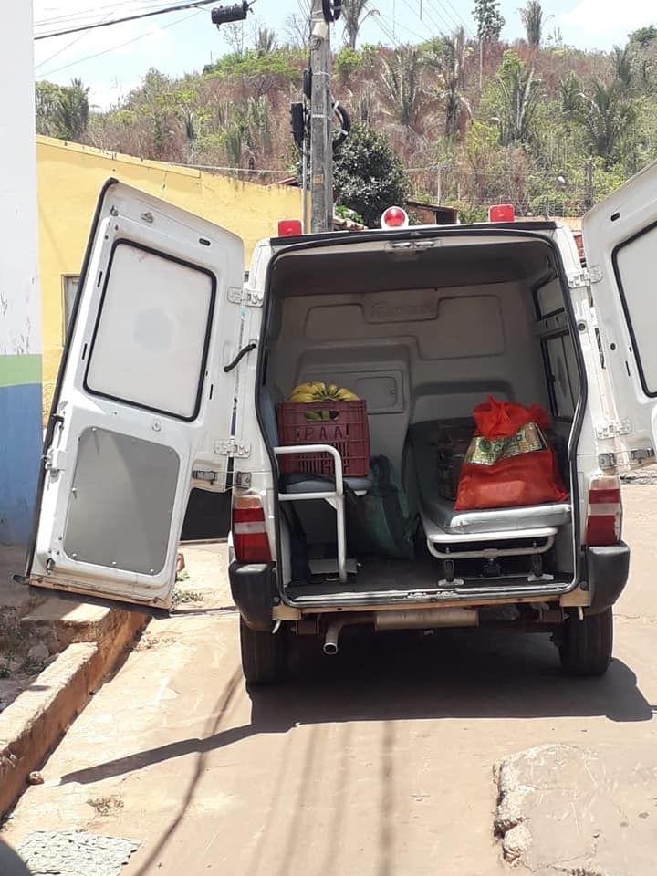 alo mp ambulancia em dom pedro transportando verduras ao inves de socorrer doentes - Alô MP!! Ambulância em Dom Pedro transportando verduras ao invés de socorrer doentes - minuto barra