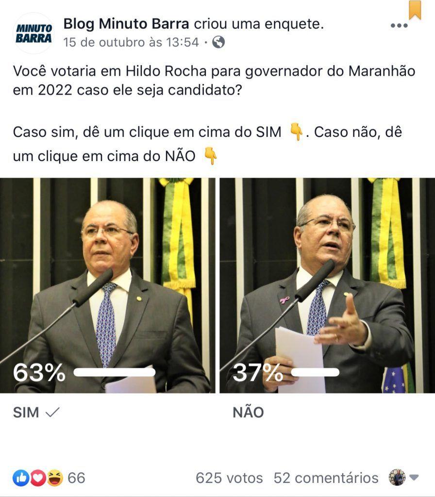 em barra do corda 63 dizem em enquete que votariam em hildo rocha para governador do maranhao 896x1024 - Em Barra do Corda, 63% afirmam em enquete que votariam em Hildo Rocha para governador do Maranhão - minuto barra