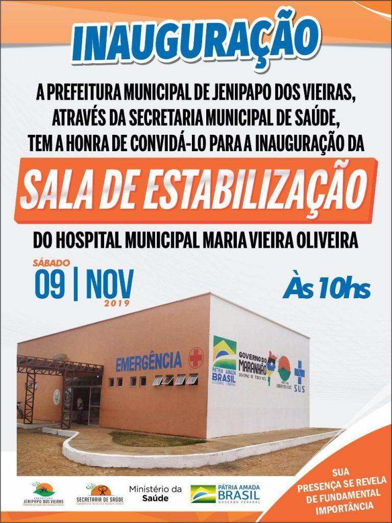 1 768x1024 - Prefeito Moíses Ventura inaugura neste sábado sala de estabilização no hospital municipal de Jenipapo dos Vieiras - minuto barra
