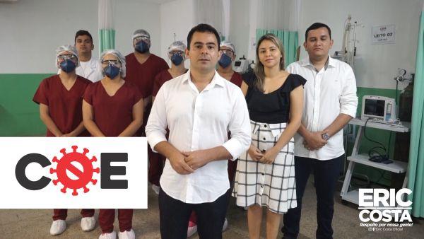 1 - COVID -19: Eric Costa anuncia 11 novos leitos para possíveis casos de coronavírus em Barra do Corda - minuto barra