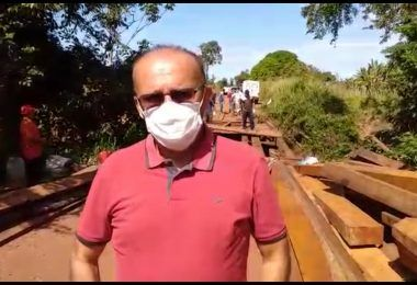 Prefeito de Lajeado Novo demora dois meses para recuperar uma ponte e ainda fica chateado com vereadores que defendem o povo