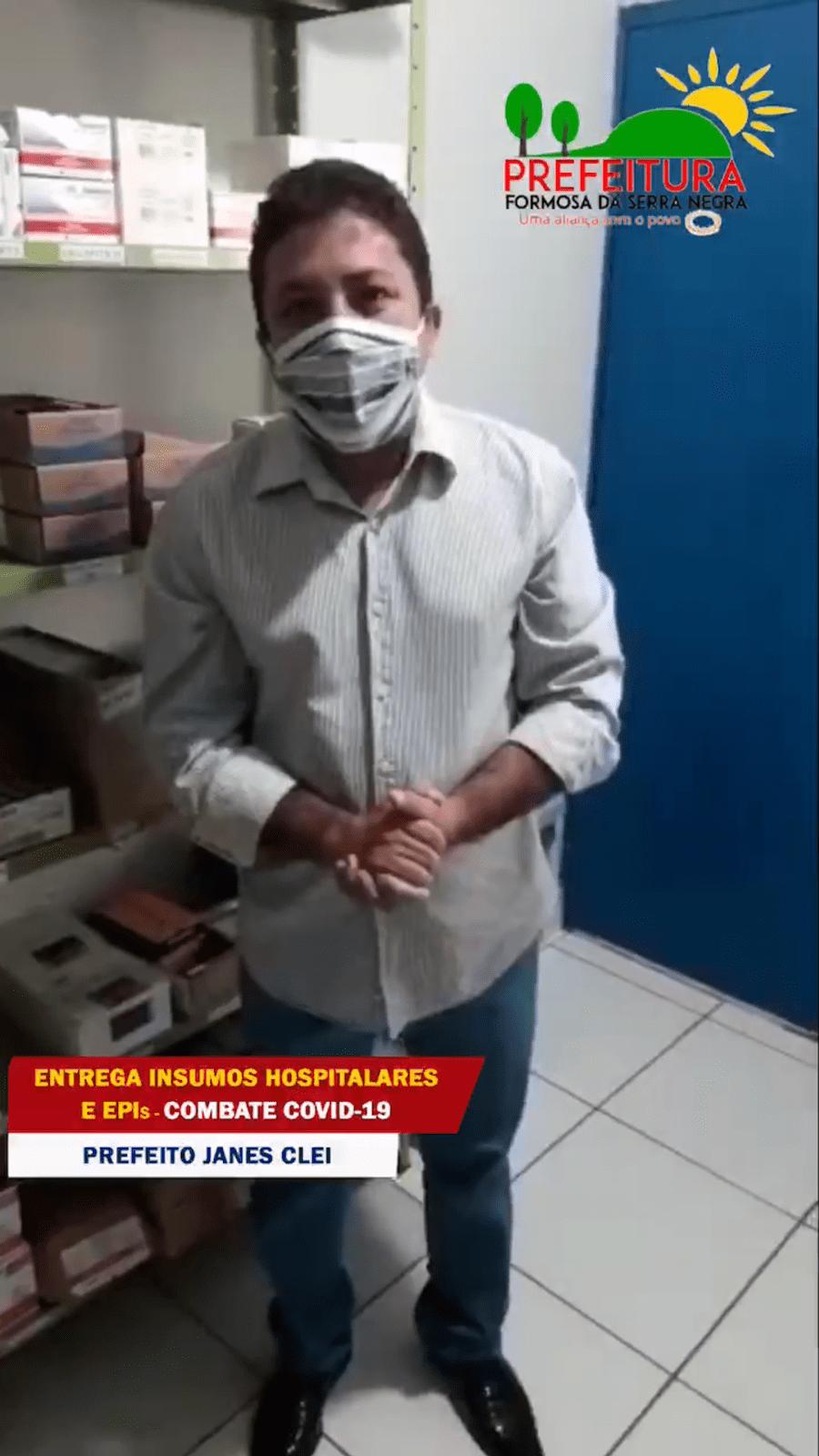 Prefeito de Formosa da Serra Negra adequa hospital para atender pacientes com suspeita de Covid