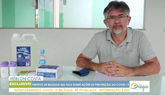 Gestão do prefeito Hérlon Costa do pequeno município de Belágua já recebeu mais de R$ 1 milhão para o Covid-19