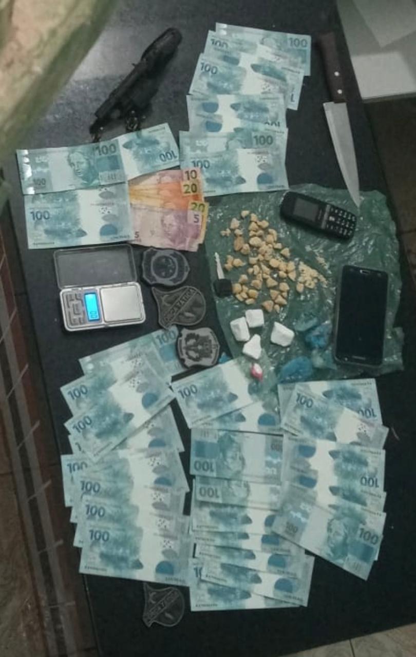 Polícia Civil prende em flagrante suspeito por tráfico de drogas e porte ilegal de arma, em Grajaú