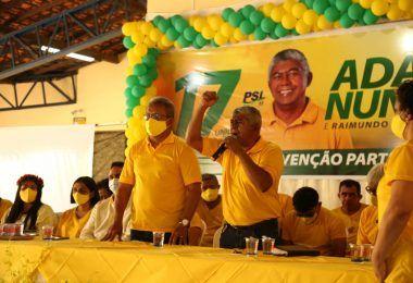 CONVENÇÃO: Oficializados os nomes de Adão Nunes e Raimundo Carvalho como candidatos a prefeito e vice em Barra do corda