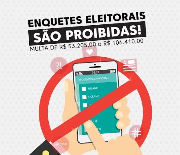 CUIDADO!! Realizar enquetes entre pré-candidatos estão proibidas desde o dia 15 de agosto e pode gerar multa de até R$ 106 mil, alerta o TSE