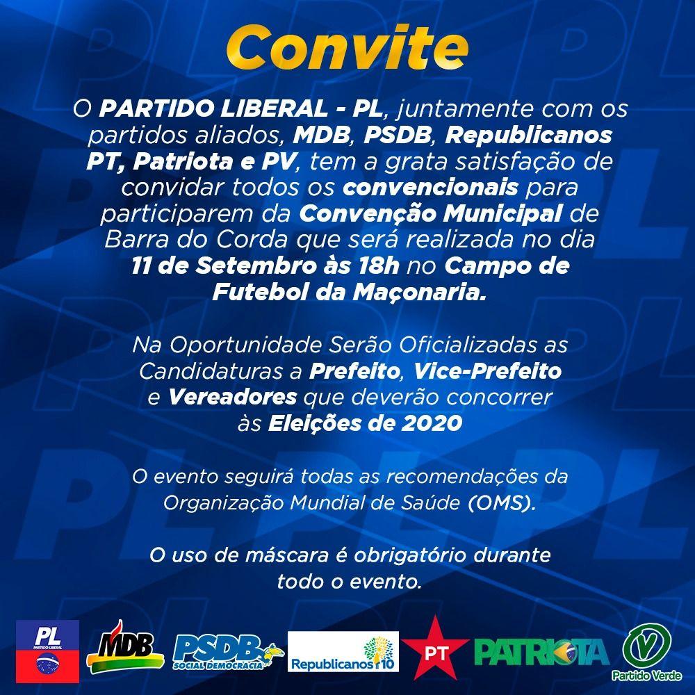 Grande convenção nesta sexta-feira(11) oficializará Rigo Teles e Marcos Unillar como candidatos a prefeito e vice em Barra do Corda