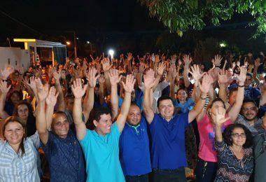 Kelson Rabelo reúne centenas de pessoas no bairro Cerâmica em apoio a Rigo Teles e Marcos Unillar