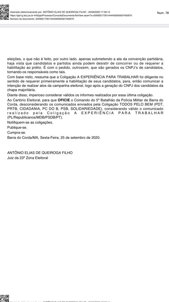 """urgente coligacao todos pelo bem de gil lopes sofre a primeira derrota na justica eleitoral em barra do corda 2 576x1024 - URGENTE!! Coligação """"Todos pelo Bem"""" de Gil Lopes sofre a primeira derrota na Justiça eleitoral em Barra do Corda - minuto barra"""