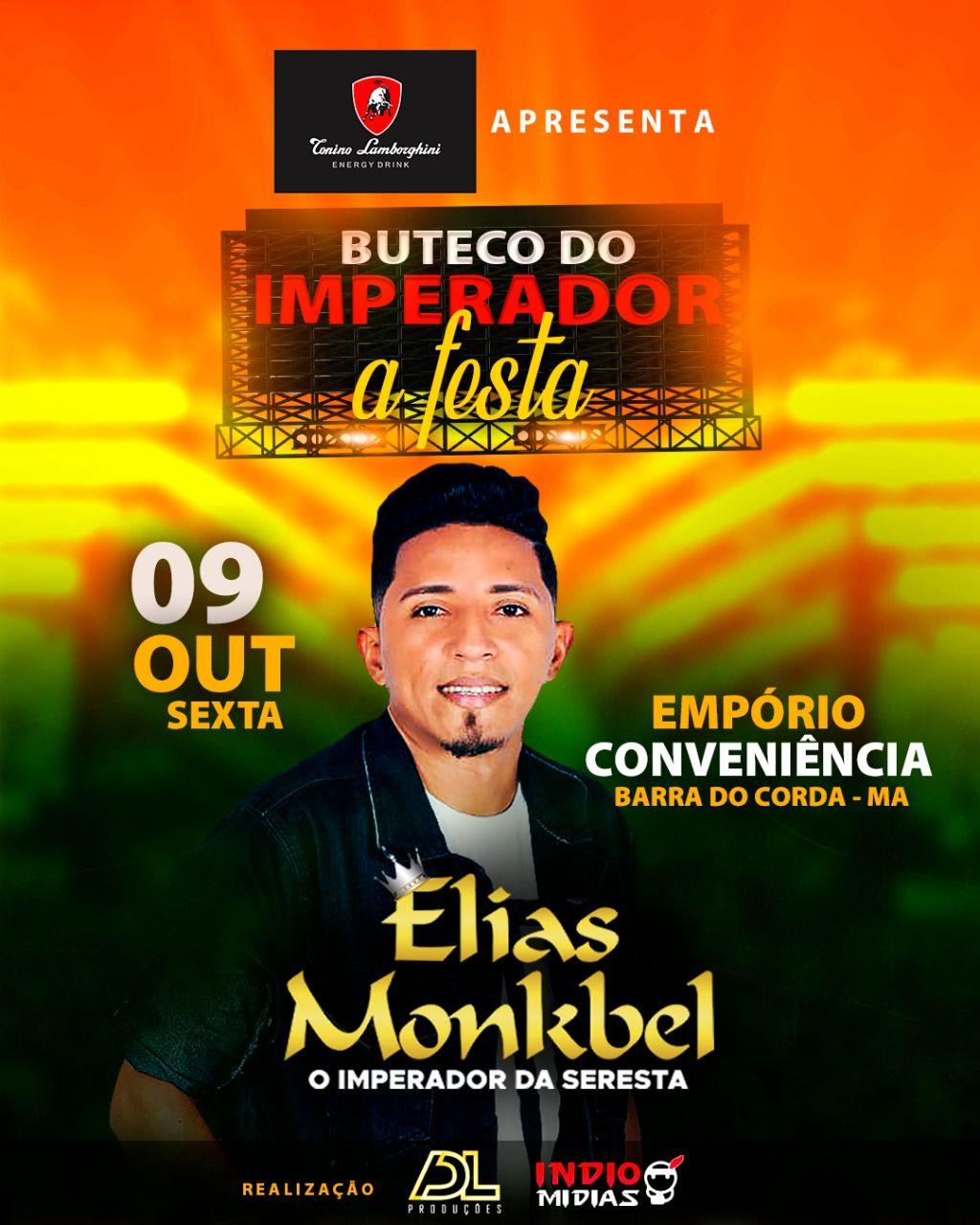VEM AÍ!! Grande show com o cantor Elias Mankbel dia 9 de outubro em Barra do Corda