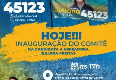 Candidata a vereadora Juliana Freitas vai inaugurar comitê nesta segunda-feira em Barra do Corda
