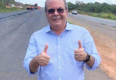 Deputado federal Hildo Rocha vistoria duplicação da BR-135