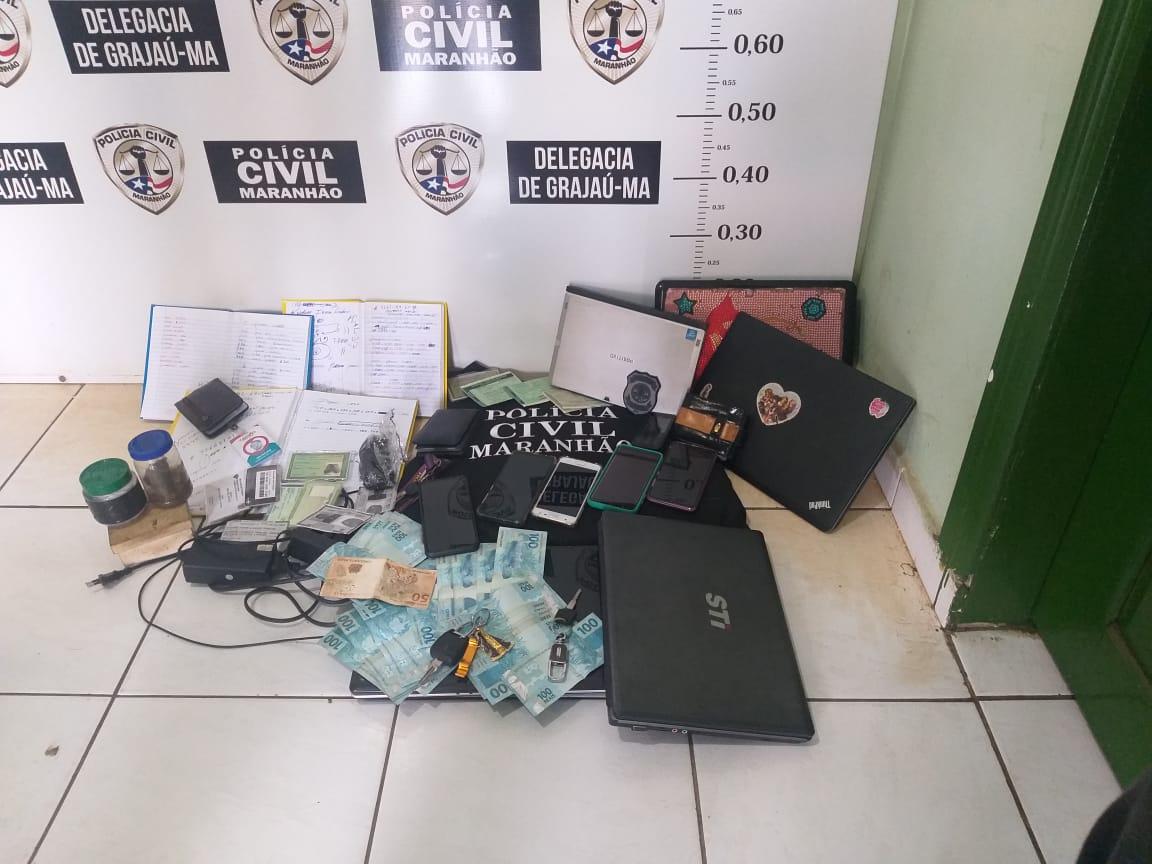 Policiais da Delegacia Regional de Barra do Corda prendem uma mulher e um homem suspeitos de serem integrantes de facção criminosa no Maranhão