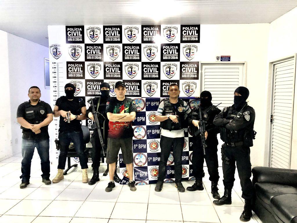 policia militar prende acusado de matar esposa em barra do corda 1 1024x768 - Polícias Militar e Civil prendem acusado de matar esposa em Barra do Corda