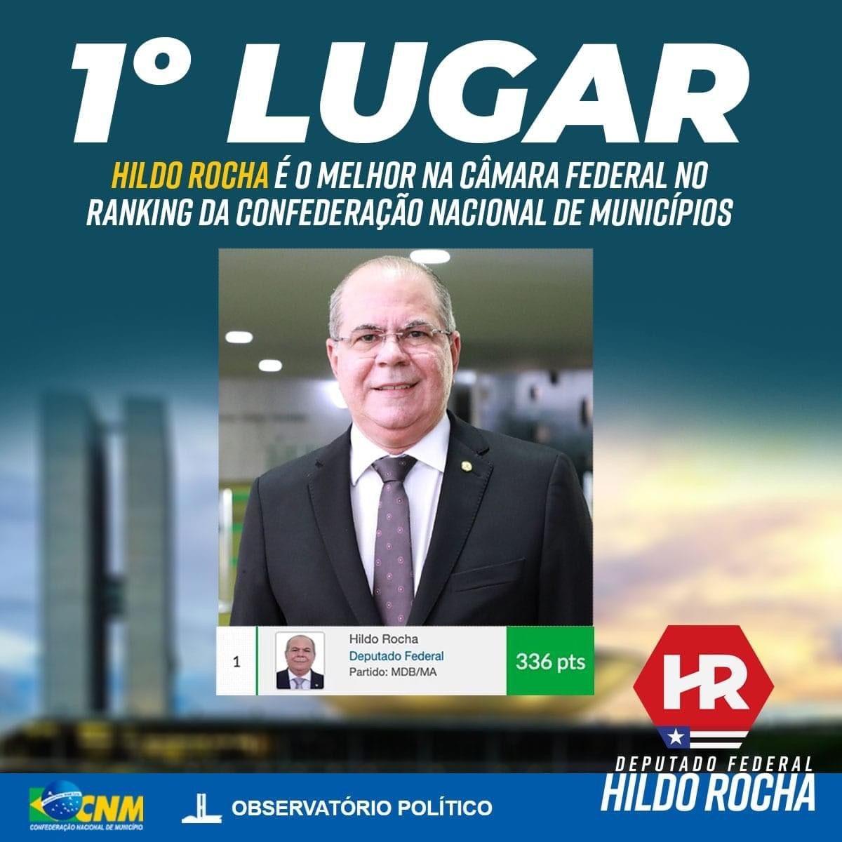 Confederação Nacional dos Prefeitos elege Hildo Rocha como melhor deputado do Brasil