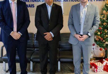 Em Brasília, Rigo Teles se reúne com o Diretor-geral do FNDE