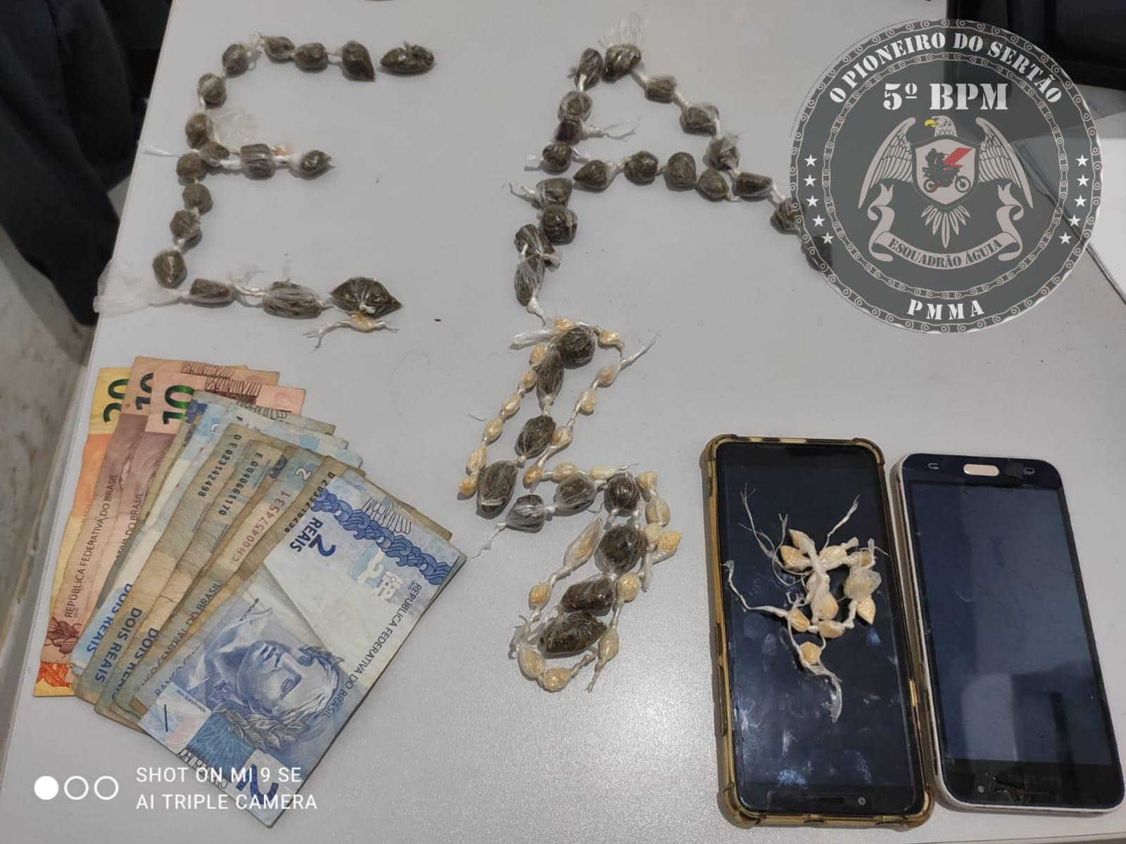 Policia Militar prende suspeito de tráfico de drogas em Barra do Corda