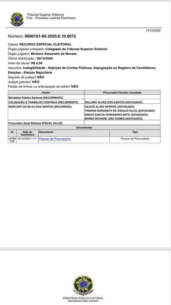 procurador eleitoral em brasilia pede ao tse para considerar prefeito eleito de sucupira do norte inelegivel 576x1024 - Procurador Eleitoral em Brasília pede ao TSE para considerar prefeito eleito de Sucupira do Norte inelegível