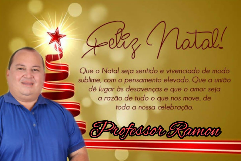 Professor Ramon Júnior deseja a todos um feliz natal e um próspero ano novo