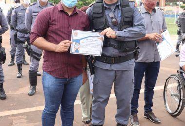 Blog Minuto Barra recebe certificado de AMIGO DO 5º BPM em Barra do Corda