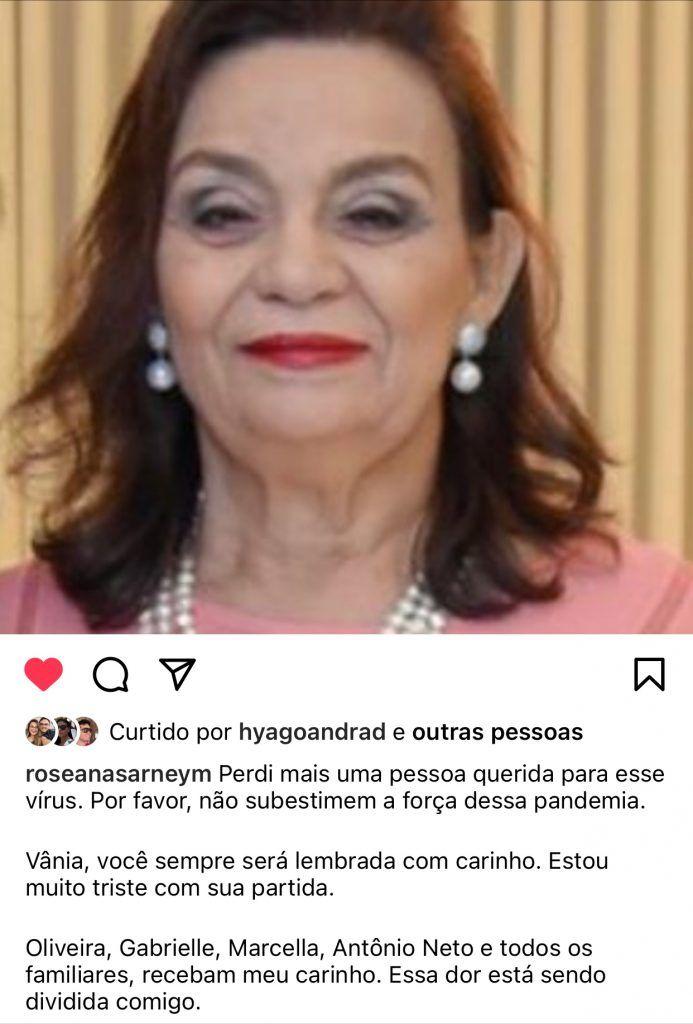 falece vania oliveira assessora da ex governadora roseana sarney 1 693x1024 - Falece Vânia Oliveira, assessora da ex-governadora Roseana Sarney