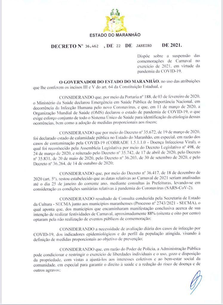 governador flavio dino suspende carnaval em todo o maranhao 1 747x1024 - Governador Flávio Dino suspende carnaval em todo o Maranhão