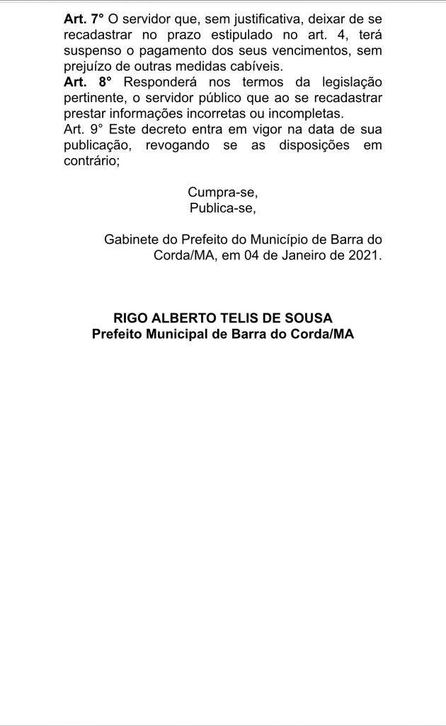 prefeito rigo teles convoca todos os servidores efetivos da prefeitura para recadrastramento 3 630x1024 - Prefeito Rigo Teles convoca todos os servidores efetivos da prefeitura para recadastramento