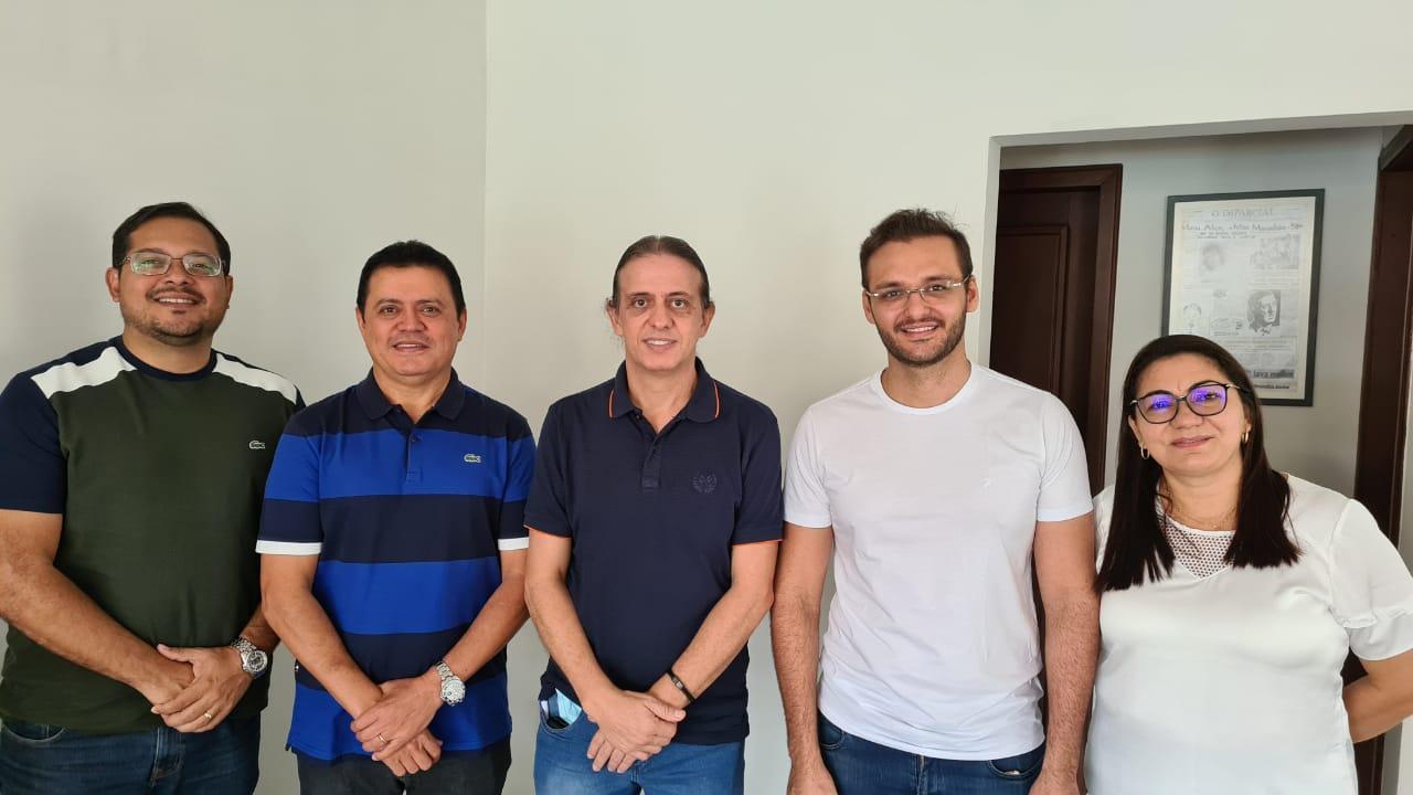 Prefeito Rigo Teles de Barra do Corda se reúne com prefeito de Caxias Fábio Gentil